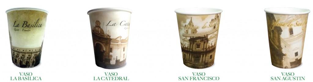 vasos-de-carton-boga-genericos-tema-iglesias-de-Quito-Ecuador