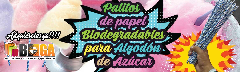PALITOS DE PAPEL PARA ALGODON DE AZUCAR
